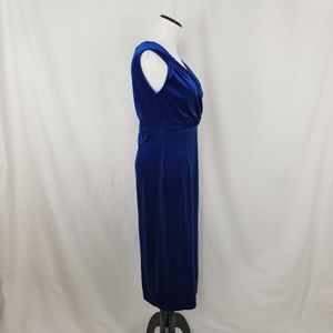 amelia Dresses - NEW Amelia Bright Sapphire Blue Long Velvet Dress